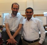 UGrad Alumnus Javed Ali Kalhoro with Harvard Professor David Kieth