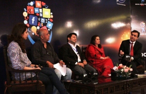 "Panelists at session on ""Social Media in Pakistan-Perceptions and Realities"""