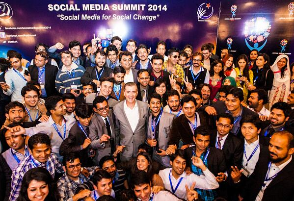 Participants of the Social Media Summit with U.S Ambassador to Pakistan Richard Olson