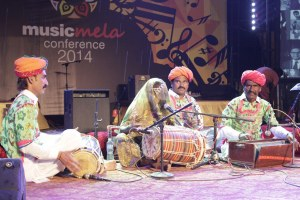 Legendary Sindhi percussionist and singer Mai Dhai from Thar Desert performs at Music Mela.