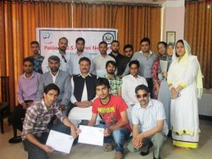 Alumni from Northern Areas Celebrate World Press Freedom Day