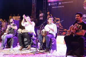 2014 Center Stage band Khumariyaan performs at Music Mela.