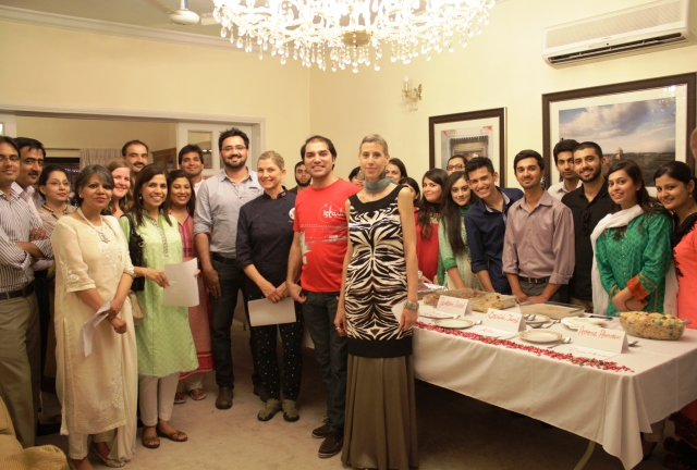 PUAN's Islamabad chapter leadership with the judges and participants of the Savory vs. Sweet Cooking Competition