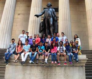 2014 SUSI exchange participants at Wall Street