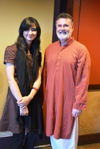 Maham Zahid with Dr Micheal Hannahan the Director Civic Initiative