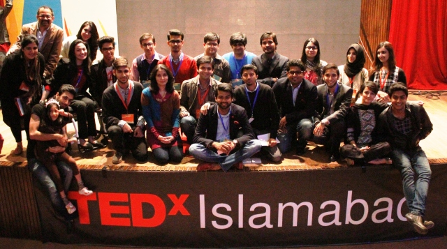 Speakers with the TEDX Islamabad's organizing team led by IVLP Alumnus Ahsan Mukhtar