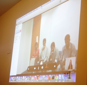 Indian alumni in Chennai during the Skype conversation with their Pakistani counterparts
