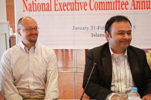 U.S Embassy's Assistant Cultural Affairs Attaché James Cerven with PUAN Country President Faisal Malik