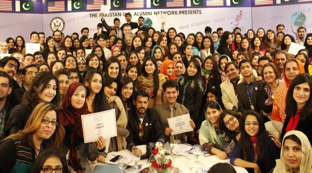 Group Photograph of the participants with U.S Ambassador Richard Olson at the Women Empowerment Conference