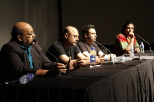 The musicians' union conference with musicians Arieb Azhar, Aaron Haroon Rashid, Ali Azmat, and Lawyer Omar Sheikh