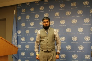 Fulbright Alumnus Dr. Zeeshan-ul-Hassan Usmani at U.N Headquarters