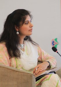 Fulbright Alumna Ayesha Fazlur Rehman moderating the session