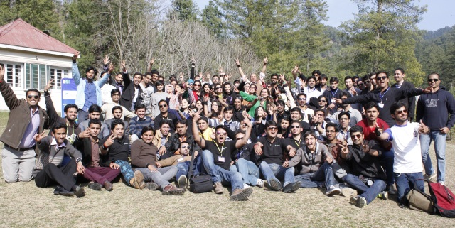 Participants of Destination Kashmir-Young Leaders Camp with the organizers
