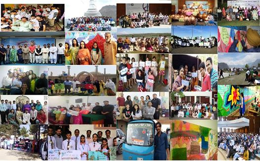Photographs of chapter activities from the 12 local chapters celebrating PUAN Peace Week