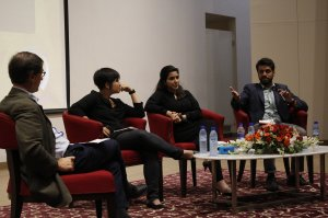 International trainers during the 'Conflicts of Interest' panel discussion