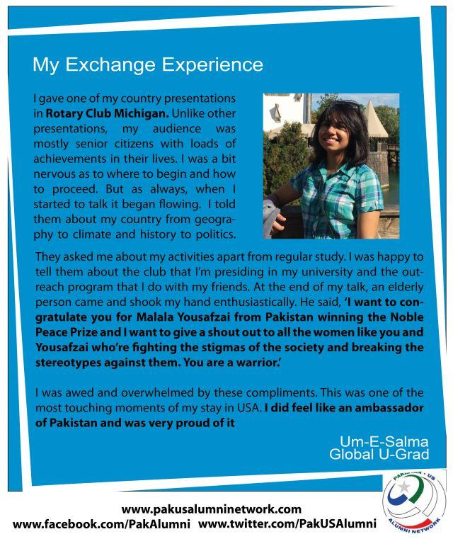 Salma's Exchange Experience